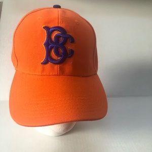 Orange and blue baseball cap